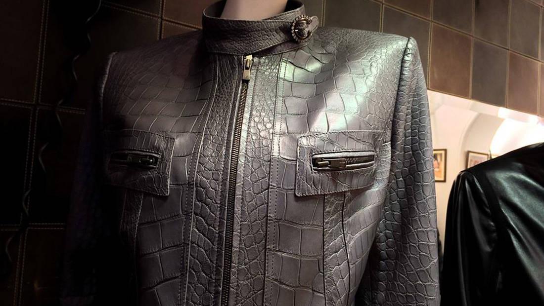 Custom Grey Alligator Jacket