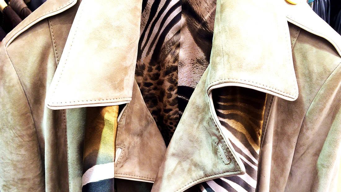 Leather woman custom jacket