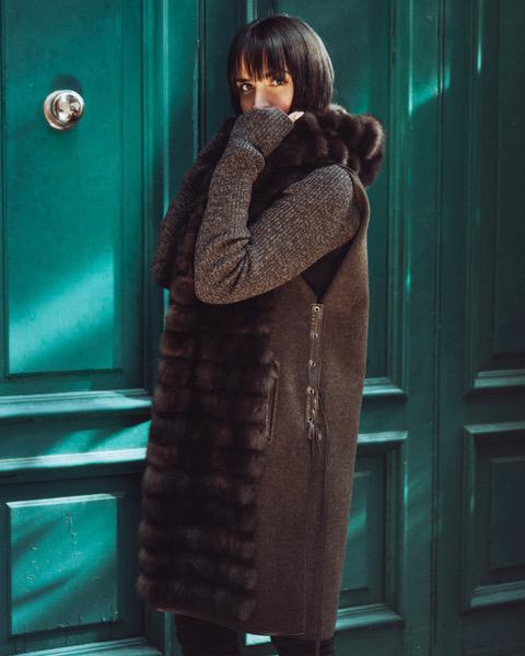 cashmere sable vest