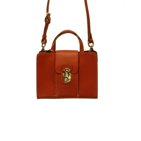 leather bag red