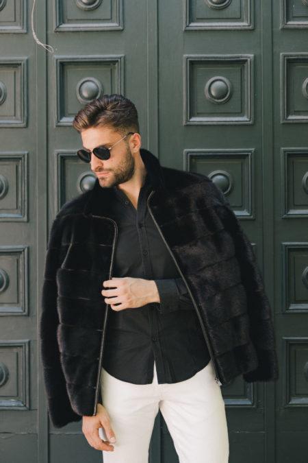 man fur coat