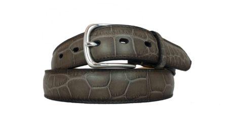Cintura in alligatore Tortora