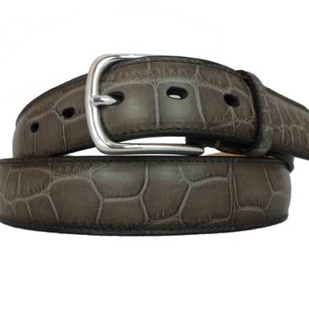 Taupe Alligator Belt