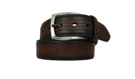 Brown lizard belt