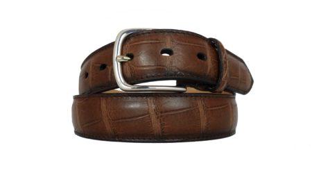 Cintura di alligatore marrone