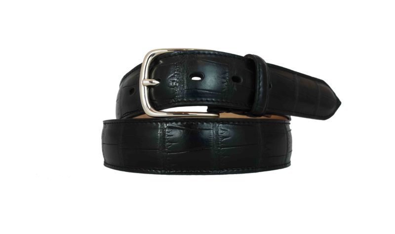 Cintura di alligatore nera