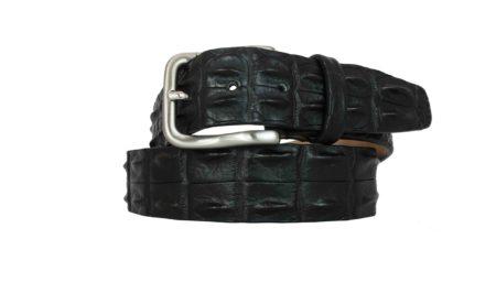 Back crocodile belt