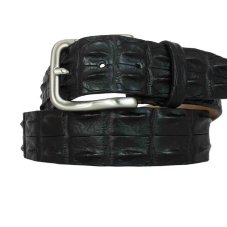 Back crocodile belt