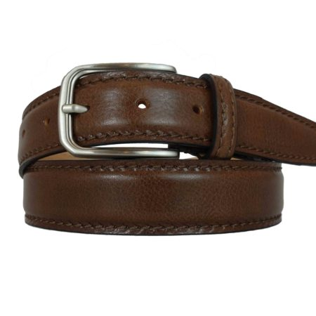 Cioccolate brown Leather belts for both man and woman. You can personalize it with your initials. https://www.puntopelle.com/shop/