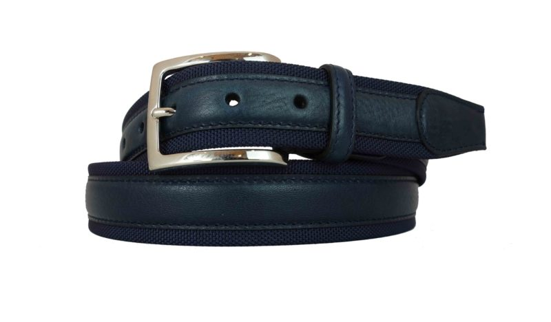 Leather belt blue for both man and woman are also made to measure with particular buckles. You can personalize your belt with your initials. www.puntopelle.com/shop/