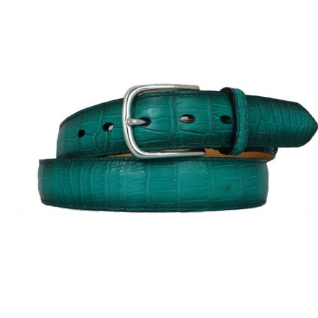 Crocodile Belt Emerald