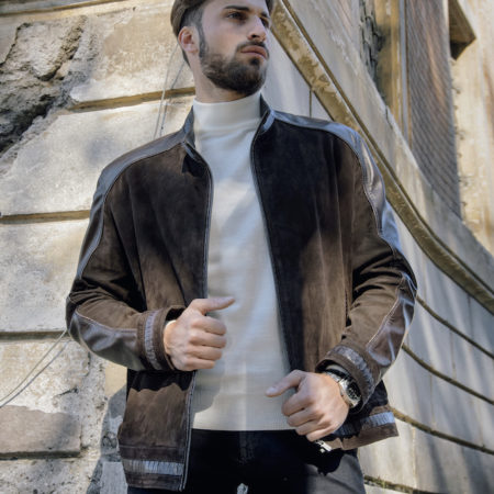 Ricci brown leather jacket