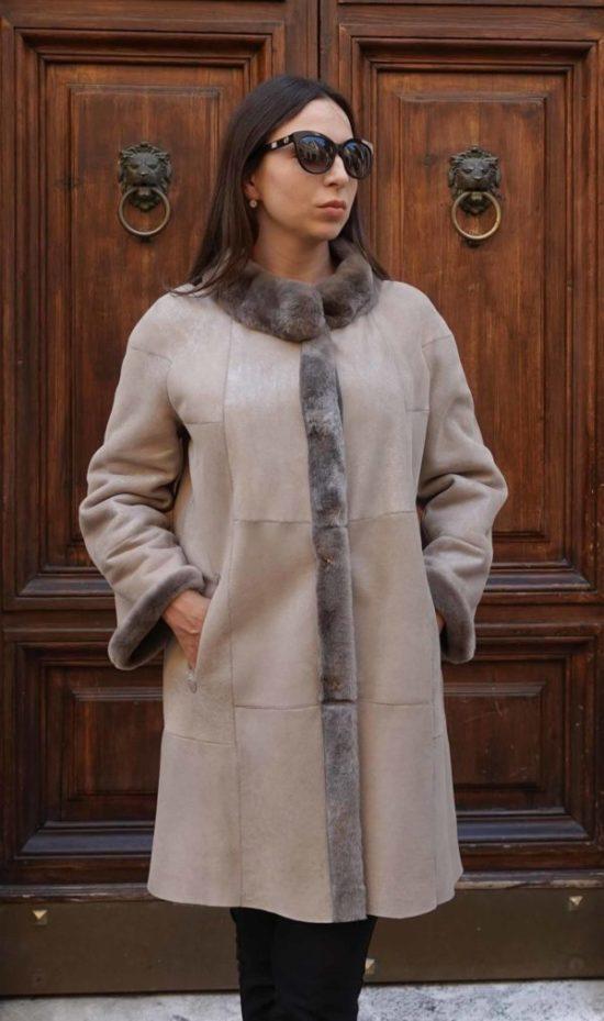 Giselle Reversible shearling coat