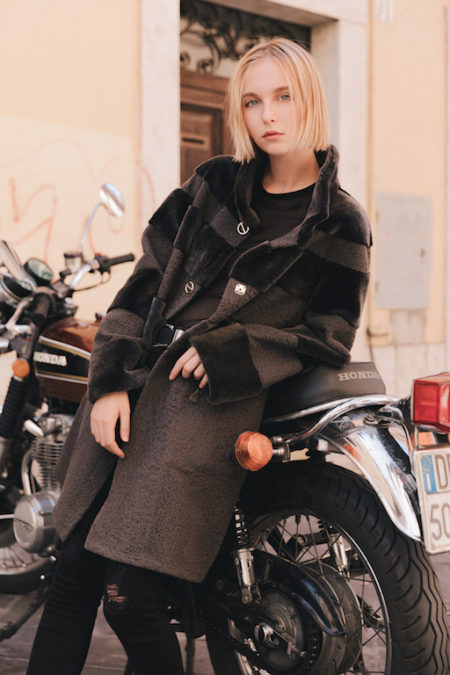 Autumn is an elegant reversible shearling coat. Easy to wear day and night. https://puntopelle.com/shop
