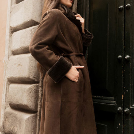 Roberta shearling coat