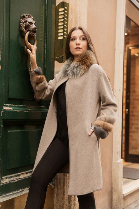 Sofia wool coat
