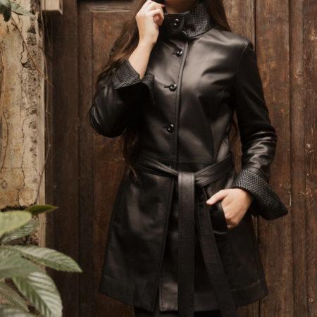 Dorothy leather coat