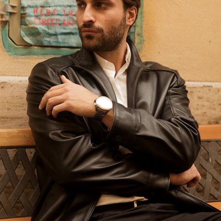 Eddy leather jacket