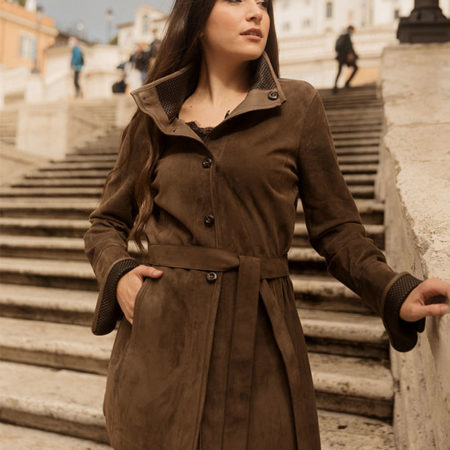 Elena Leather coat