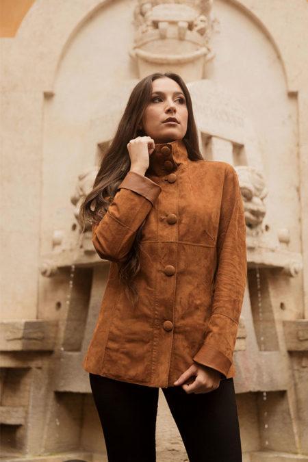 Giulia leather jacket