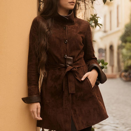 Iris leather coat