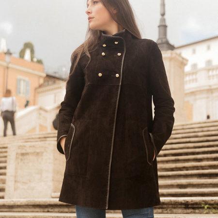 Cappotto in pelle Silvia