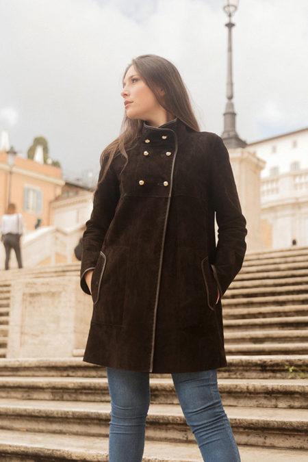 Silvia leather coat