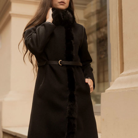 Stefania wool coat