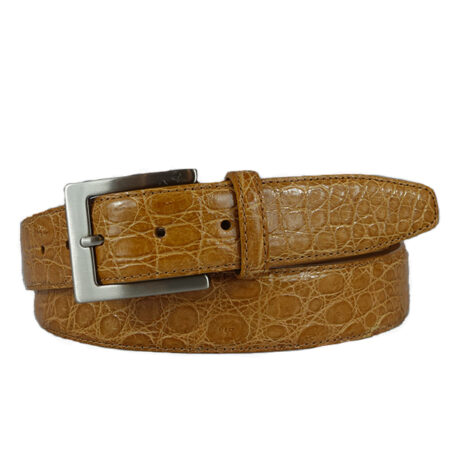 tan croco belt