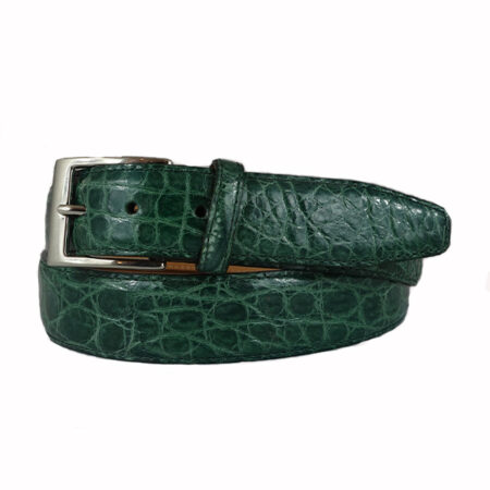 green croco belt