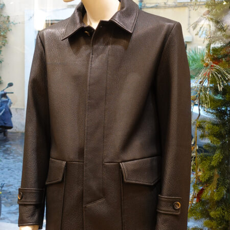 Saverio Leather coat