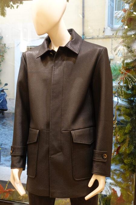 Saverio Leather coat