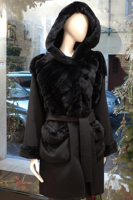 Ada cashmere/ rex coat