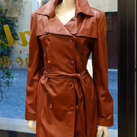 Barbara leather trench
