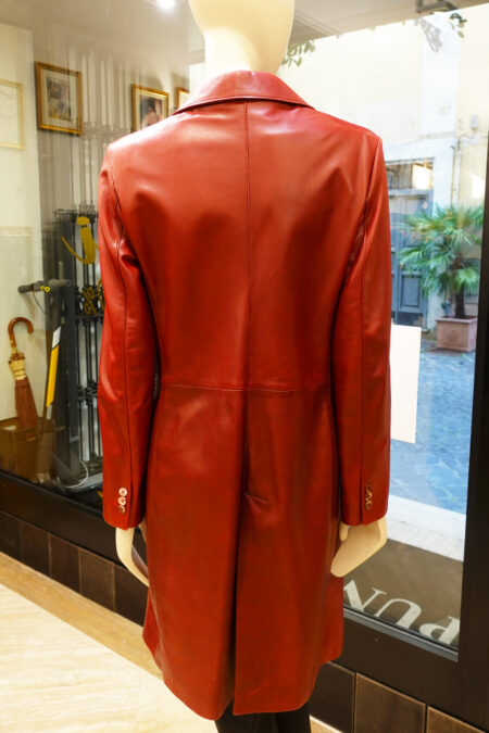 Leslee leather coat