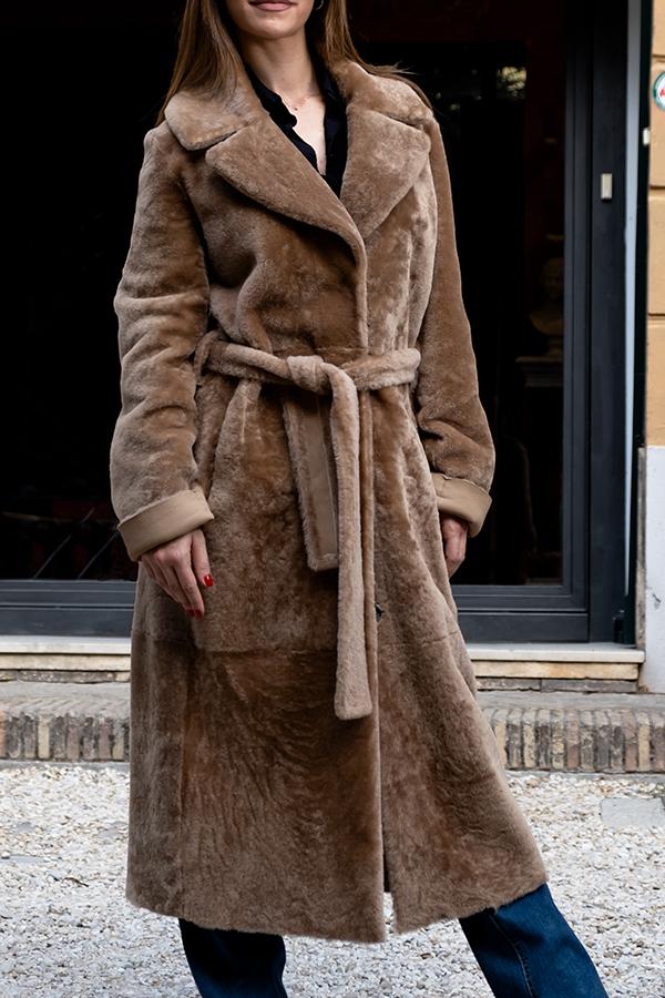Monia shearling coat